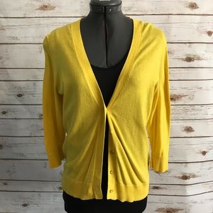 Gap Factory yellow cardigan size small